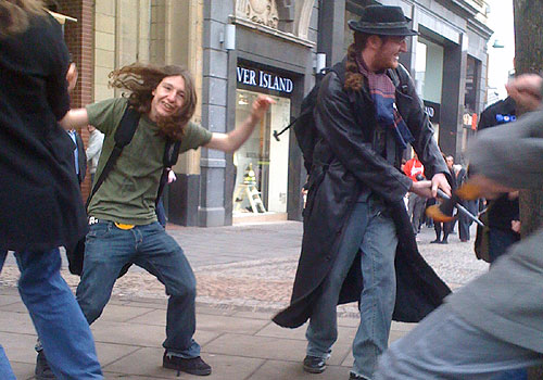 Pirates flash mob in Sheffield