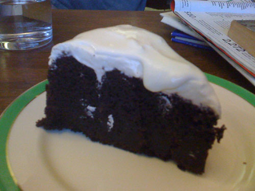 Amazing Guinness cake at the Rude Shipyard coffee shop, Sheffield