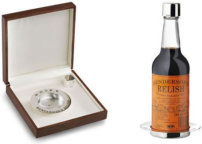 Katey Felton's limited edition Henderson's relish silver accessories