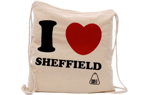 I love Sheffield drawstring eco bag
