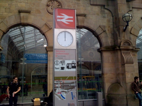 Sheffield station clock