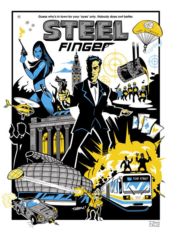 Steel finger screen print by Jim Connolly