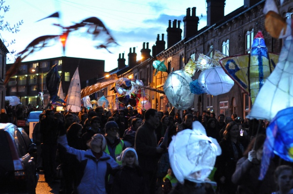 The procession at Sharrow lantern festival