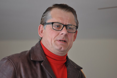 John Shuttleworth at a Broomhill residential home