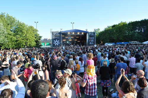 The main stage on Devonshire green