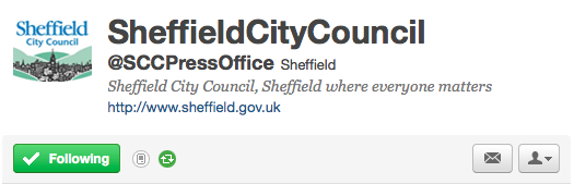 Sheffield city council on Twitter