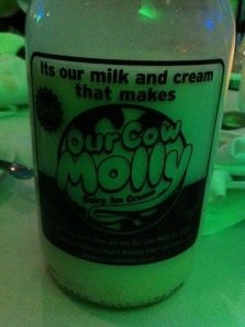 Our Cow Molly milk bottle