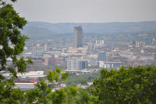 City centre from Wincobank hill