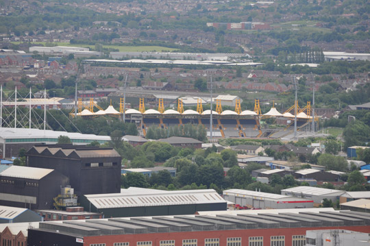 Don valley stadium from Wincobank hill