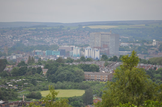 University/Hallamshire hospital from Wincobank hill