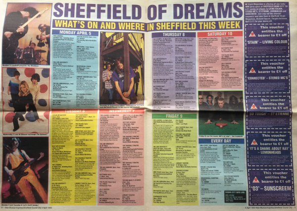 Pulp's Guide to Sheffield Sound City - NME cutting 3/5