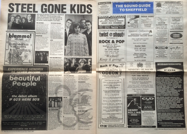 Pulp's Guide to Sheffield Sound City - NME cutting 4/5